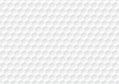Hexagon seamless pattern. Golf ball texture. White honeycomb background.