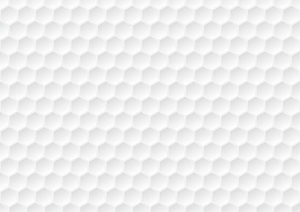 illustrazioni stock, clip art, cartoni animati e icone di tendenza di hexagon seamless pattern. golf ball texture. white honeycomb background. - miele dolci