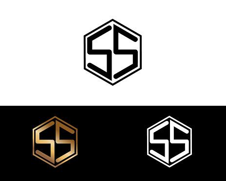 Ss Hexagon Shape Letters Design Stock Illustration ...