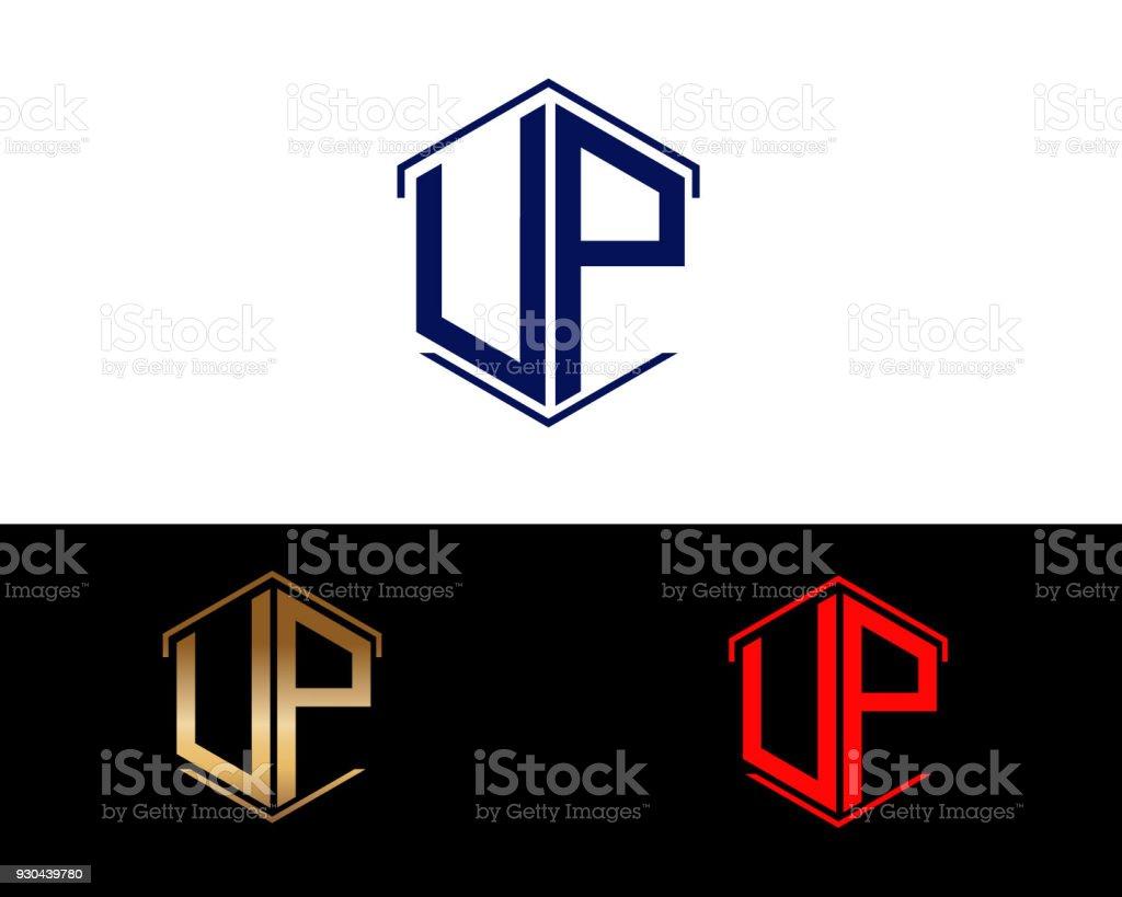 Sechseckform Briefe Design Stock Vektor Art Und Mehr Bilder Von