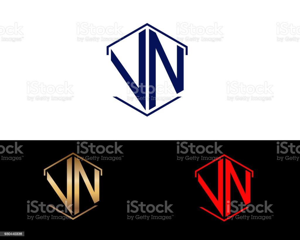 Vl Sechseck Form Buchstaben Design Stock Vektor Art Und Mehr Bilder