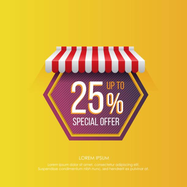 bildbanksillustrationer, clip art samt tecknat material och ikoner med hexagon formade etikett med försäljning annons - gul bakgrund
