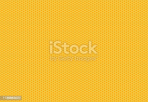 Hexagon structure on the yellow background. Eps 10 vector