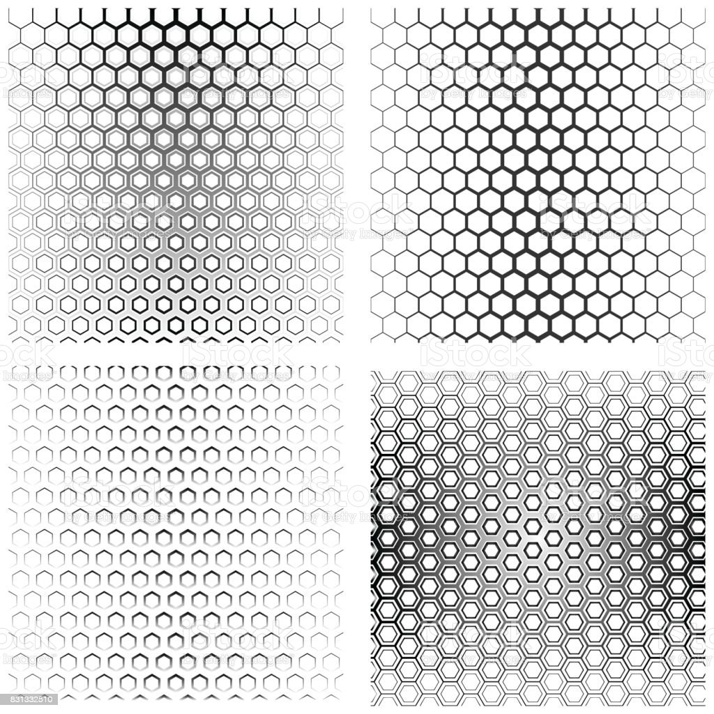 Hexagon Texture Backgrounds Stock Vector Art & More Images of ...