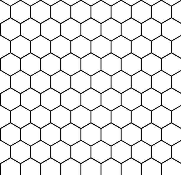 hexagon - шестиугольник stock illustrations
