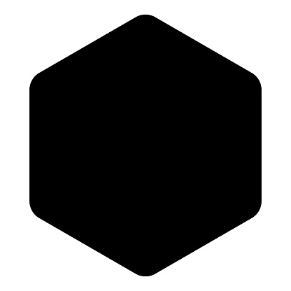 Hexagon with rounded corners icon black color vector illustration flat style image