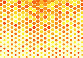 hexagonal abstract background like golden honeycomb