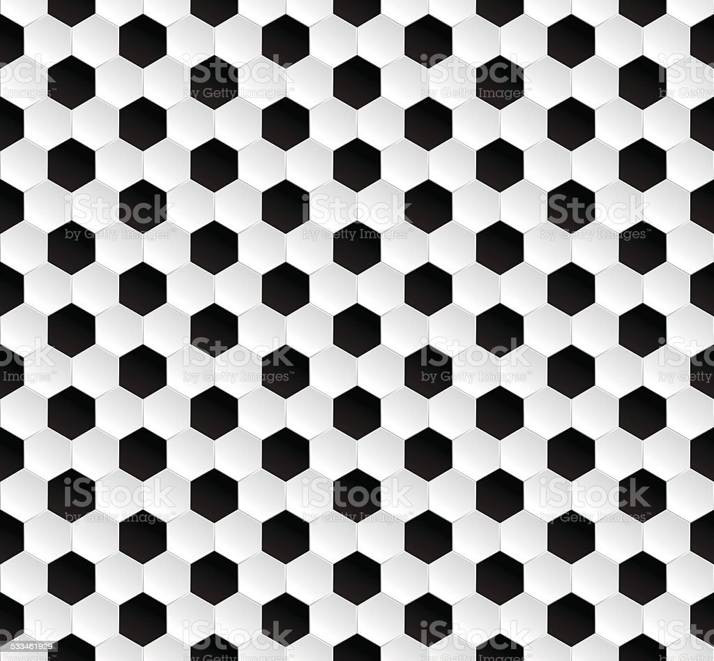 Hexagonal abstract football texture background vector art illustration
