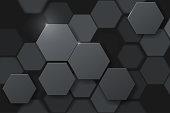 Hexagonal abstract metal background
