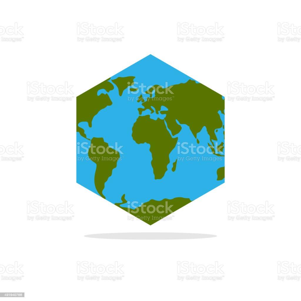 Hexagone Atlas De La Terre Carte Du Monde Avec Les Continents Geometrique Sans Fil Gratuit Vecteurs Libres De Droits Et Plus D Images Vectorielles De 2015 Istock