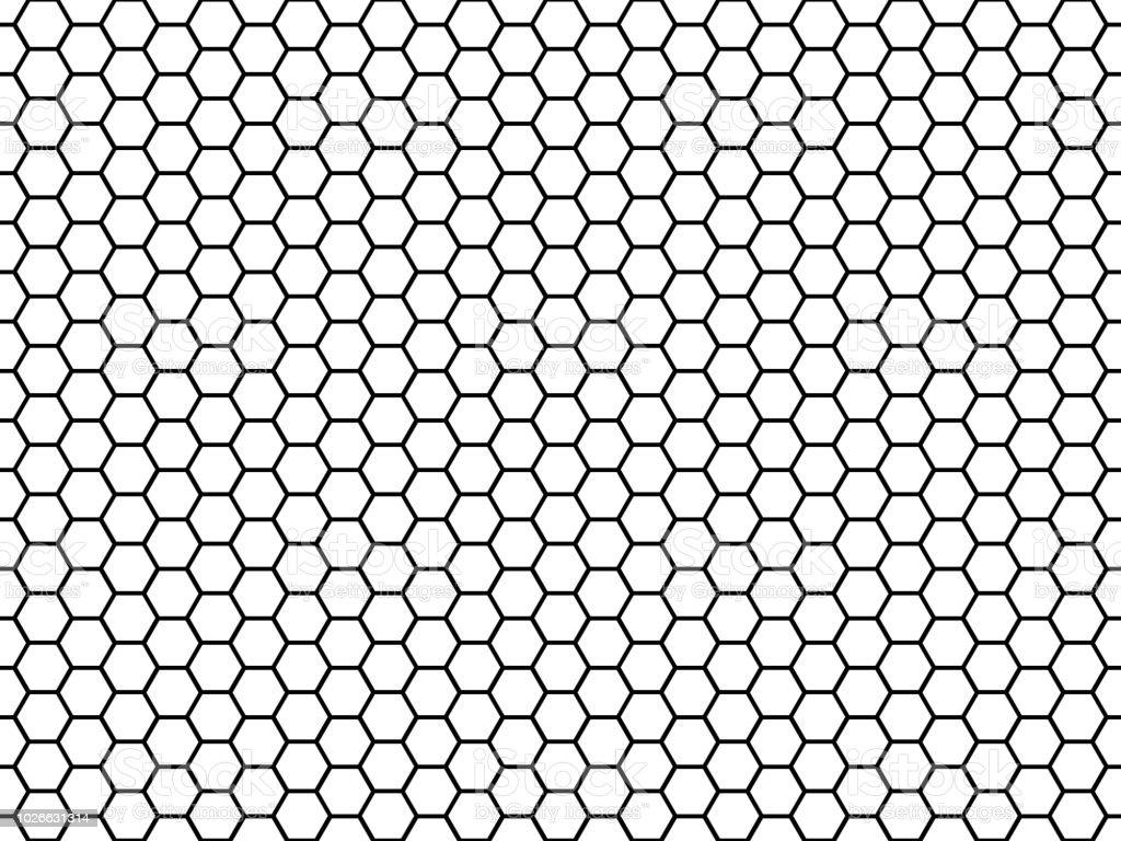 Ilustración de Textura De La Celda Hexagonal Miel Hexagonal Rejilla ...