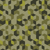 Seamless pattern in the military style is suitable for print.