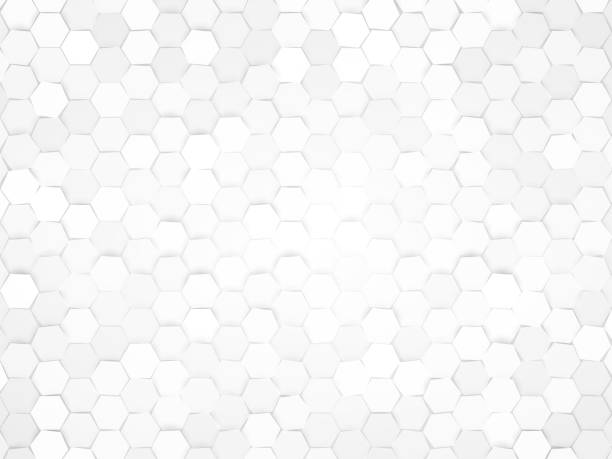 hexagonal design background - tile pattern stock illustrations, clip art, cartoons, & icons
