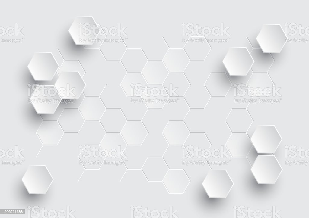 Hexagonal abstrait géométrique. - Illustration vectorielle