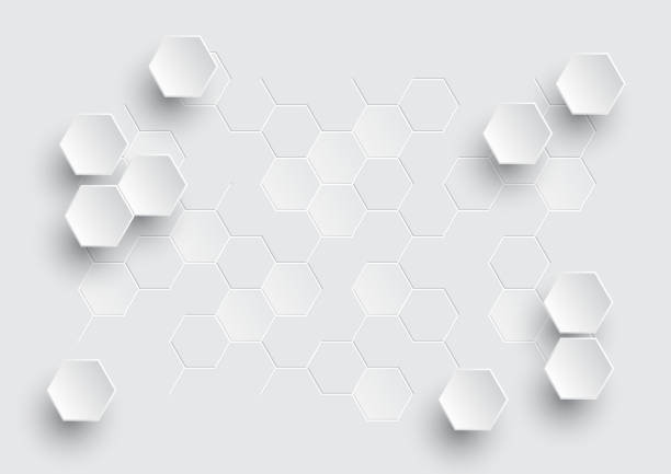 Hexagonal geometric abstract background. Hexagonal geometric abstract background, creative minimalistic design. Vector illustration concept for molecule, molecular structure, genetic, chemical compounds, chemistry, medicine, science, technology and for futuristic business presentation. hexagon stock illustrations