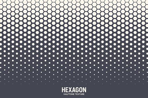 Hexagonal Halftone Texture Vector Geometric Technology Abstract Background