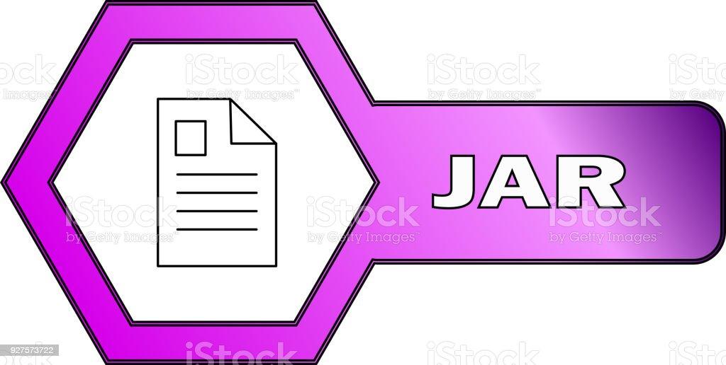 Hexagonal Icon For Jar Files Vector Stock Illustration