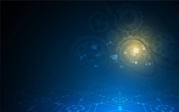 hexagonalen Muster-Sci-Fi Hintergrund innovatives Konzept – Vektorgrafik