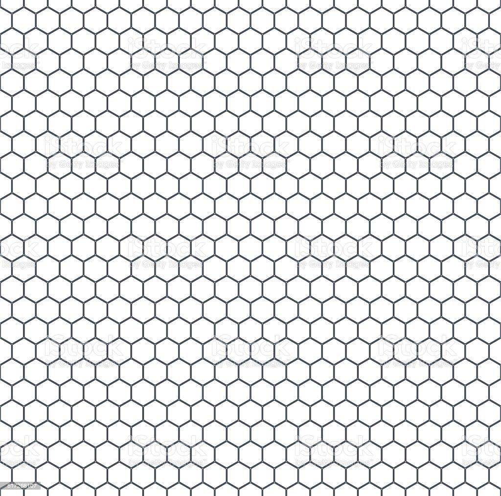 Hexagonal pattern vector art illustration