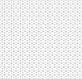 Hexagonal seamless pattern with lines and dots, modern stylish vector