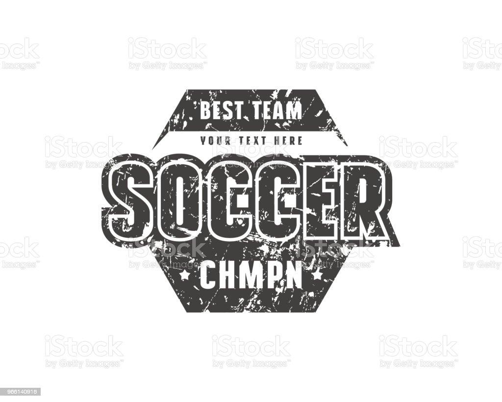 Zeshoekige sjabloon embleem voor voetbalteam - Royalty-free Atleet vectorkunst