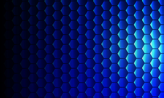 hexagons blue Geometric abstract background