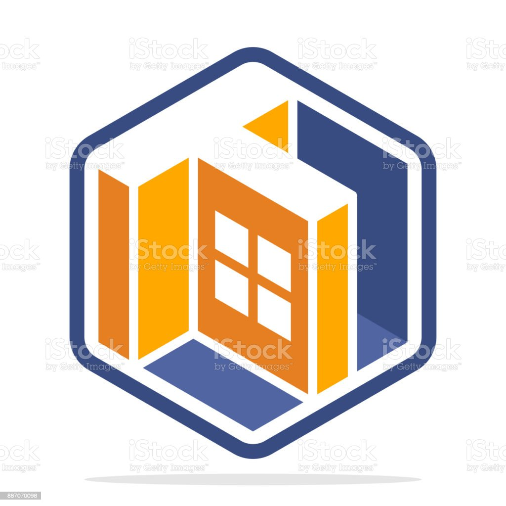 Hexagonshaped Symbol With Isometric Style And The Initial Letter T