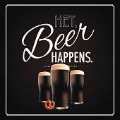 Hey beer happens blackboard design