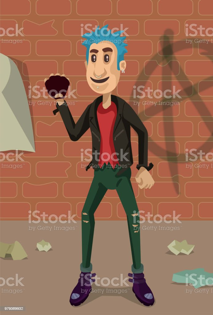 Hey Punk! vector art illustration