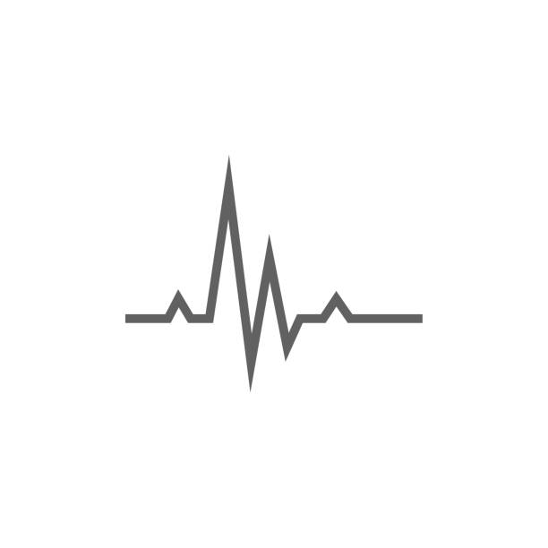 hheart beat cardiogram line icon - rytm stock illustrations