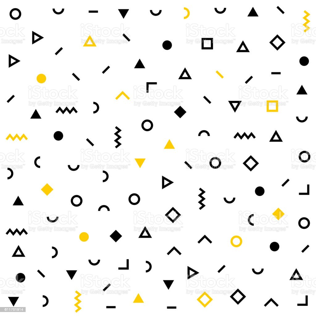 Hhipster pattern with geometric shapes