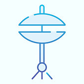 Hi hat cymbal flat icon. Drum vector illustration isolated on white. Musical instrument gradient style design, designed for web and app. Eps 10