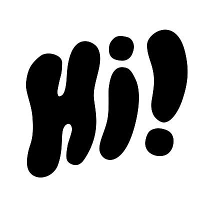 Hi! Lettering
