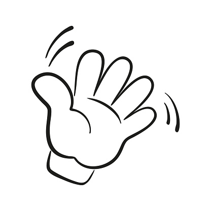 Hi or Hello hand gesture.