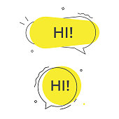 istock Hi Speech Bubble Vector Icon. 1161413704