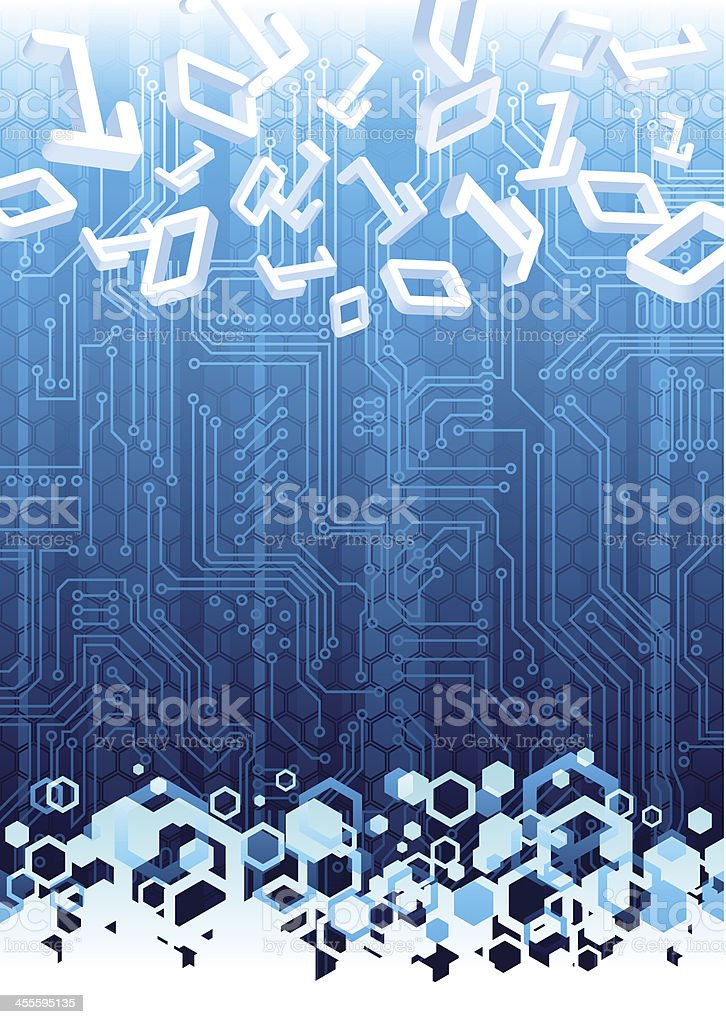 A hi tech blue and white abstract background royalty-free stock vector art