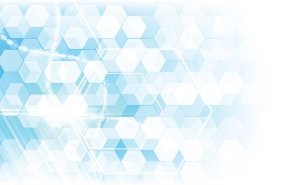 hallo Tech futuristische Sci Fi Konzept Sechseck Muster Hintergrund – Vektorgrafik