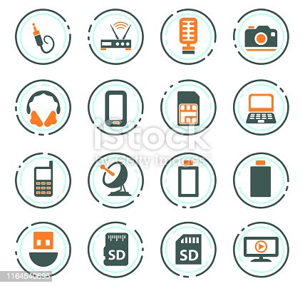 Hi tech vector icons for user interface design