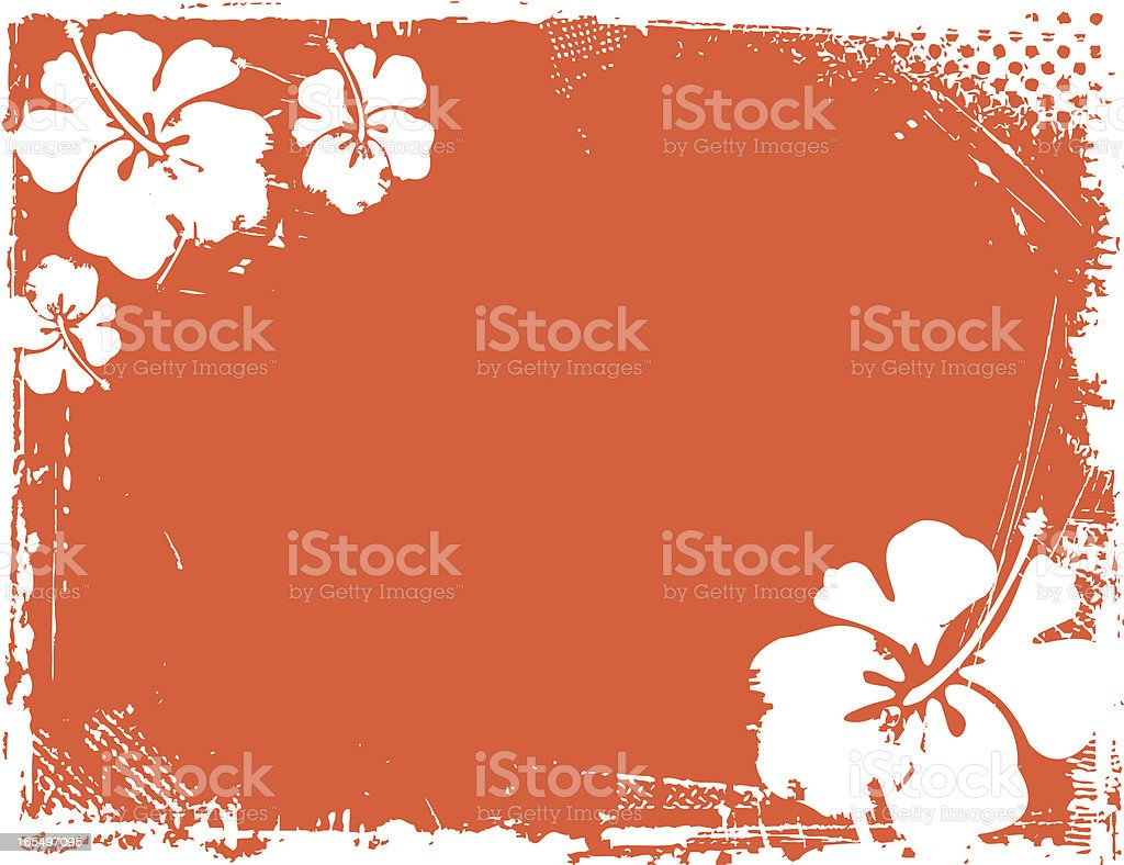 Hibiscus  Background royalty-free stock vector art