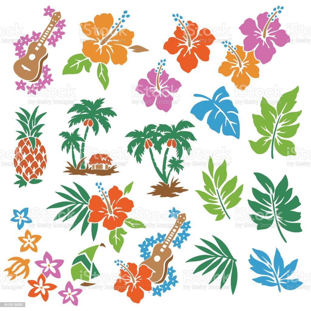 Hibiscus flower illustration vector art illustration