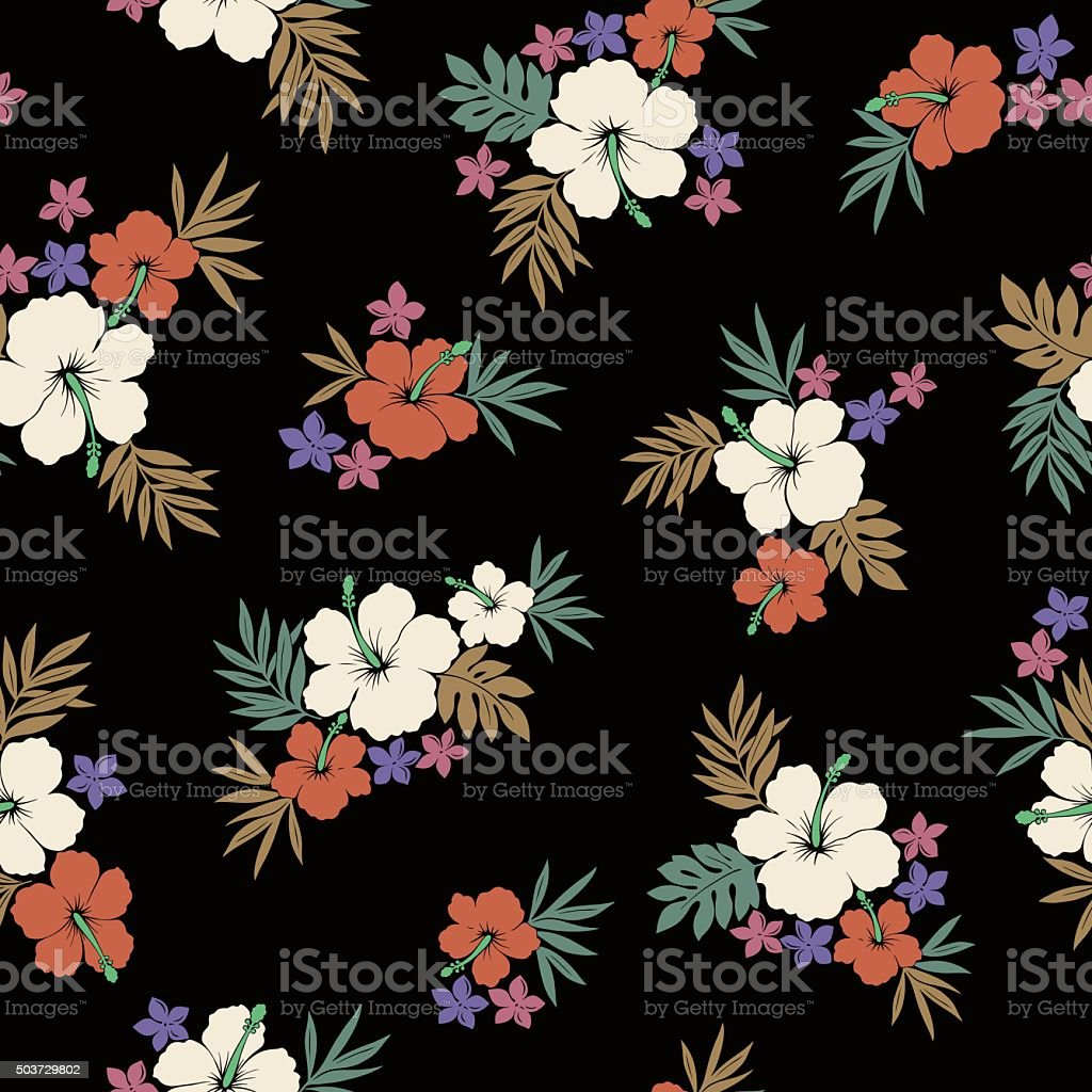 Hibiscus flower pattern stock vector art more images of art description flower material plant single flower hibiscus izmirmasajfo