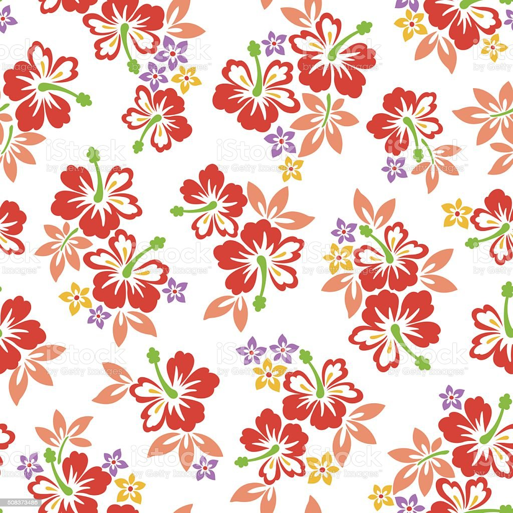 Hibiscus Flower Pattern Stock Vector Art & More Images of Art ...