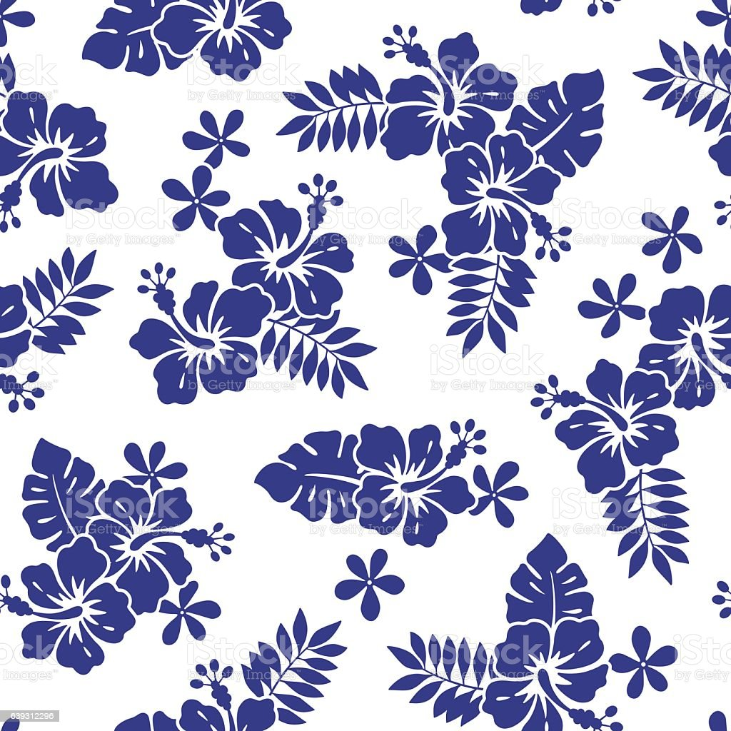 hibiscus flower pattern stock vector art amp more images of