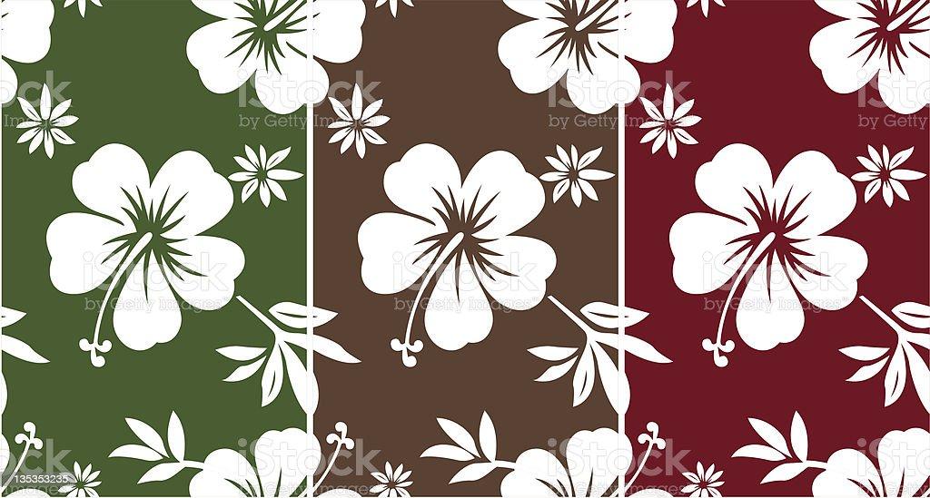 hibiscus flower print royalty-free stock vector art