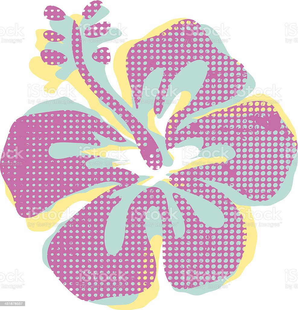 Hibiscus Flower royalty-free hibiscus flower stock vector art & more images of cut out