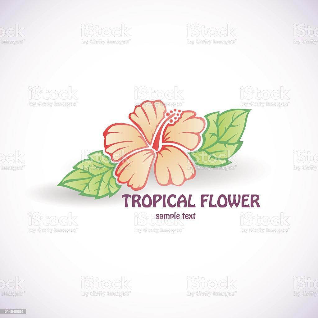 Hibiscus Flower Vector Symbol Tattoo Icon Stock Vector Art More