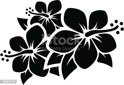 Group of tropical flowers. Professional clip art for your print project or Web site.