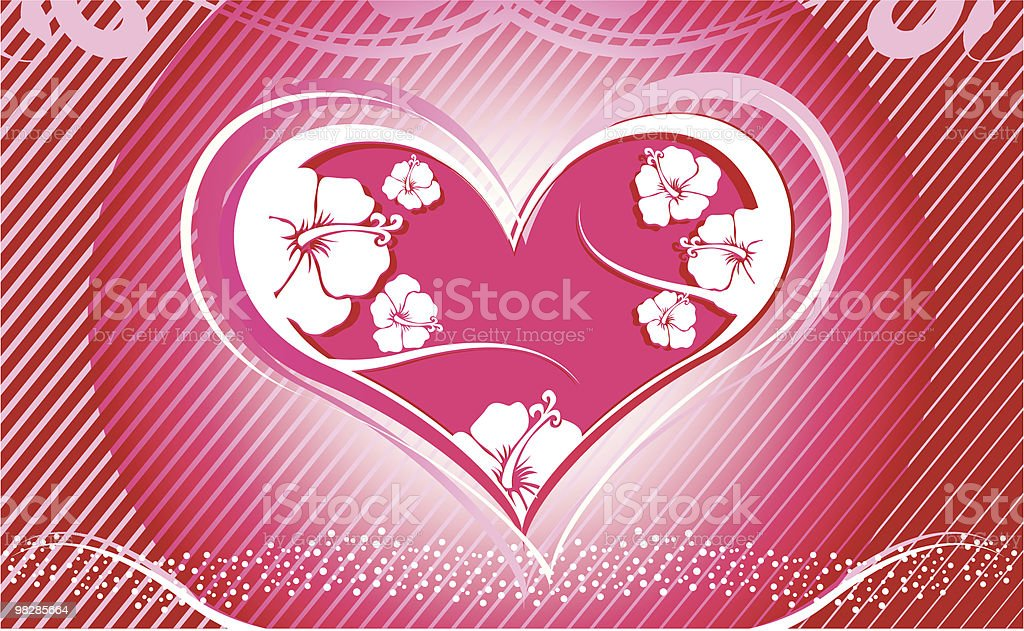 Hibiscus Heart royalty-free hibiscus heart stock vector art & more images of abstract