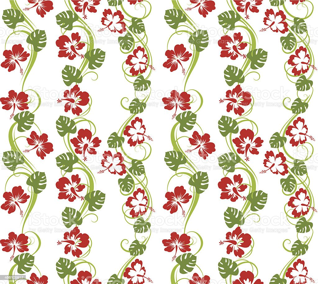 Hibiscus seamless pattern royalty-free stock vector art