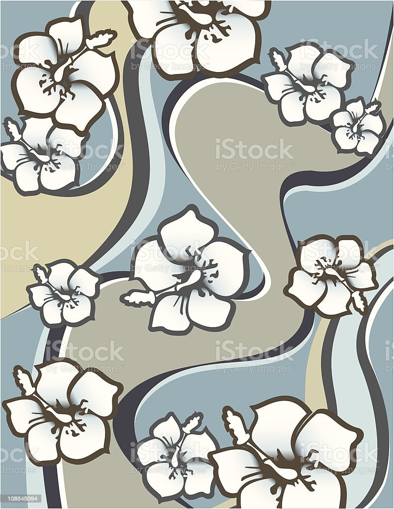 Hibiscus trip royalty-free stock vector art